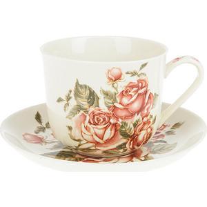 Чайная пара Best Home Porcelain Рубиновые розы (M1270626) best home porcelain салфетница рубиновые розы 4х8х13 см