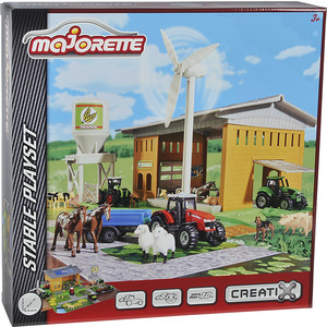 Majorette Набор Ферма Creatix + 1 трактор, 7,5см, 57*36*18см,1/4 (2050007)