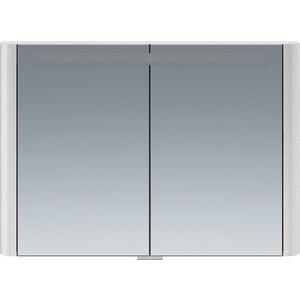 все цены на Зеркальный шкаф Am.Pm Sensation 100 см с подсветкой серый шелк (M30MCX1001FG) онлайн