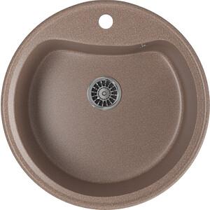 Кухонная мойка Mixline ML-GM09 49х49 терракотовый 307 (4620031446446) кухонная мойка mixline ml gm10 44х44 бежевый 328 4630030632719