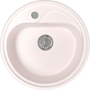 Кухонная мойка Mixline ML-GM10 44х44 светло-розовый 311 (4630030632658) кухонная мойка mixline ml gm10 44х44 песочный 302 4630030632535