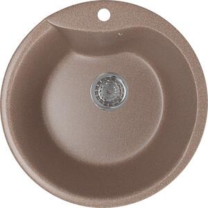 Кухонная мойка Mixline ML-GM12 48х48 терракотовый 307 (4630030633167) смеситель для кухни mixline ml gs05 терракотовый 307 4620031444374