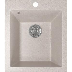 Кухонная мойка Mixline ML-GM14 42х49,5х19 песочный 302 (4630030633495) кухонная мойка mixline ml gm10 44х44 бежевый 328 4630030632719