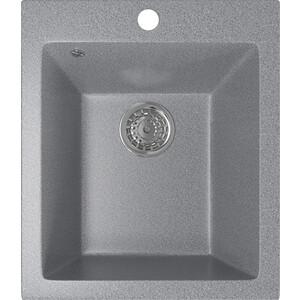 Кухонная мойка Mixline ML-GM14 42х49,5х19 темно-серый 309 (4630030633587) кухонная мойка mixline ml gm10 44х44 бежевый 328 4630030632719
