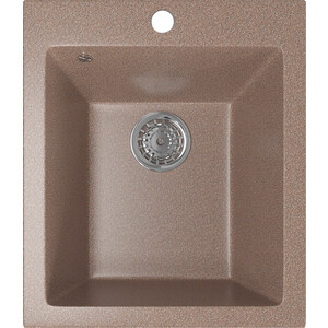 Кухонная мойка Mixline ML-GM14 42х49,5х19 терракотовый 307 (4630030633648) кухонная мойка mixline ml gm10 44х44 бежевый 328 4630030632719