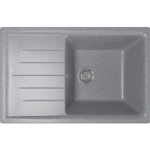 Кухонная мойка Mixline ML-GM19 49,5х75 темно-серый 309 (4630030634782) кухонная мойка mixline ml gm10 44х44 бежевый 328 4630030632719
