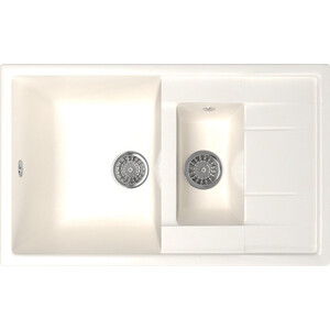 Кухонная мойка Mixline ML-GM22 49,5х77 белый 331 (4630030635628) кухонная мойка mixline ml gm10 44х44 бежевый 328 4630030632719