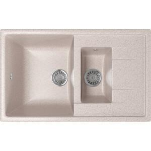 Кухонная мойка Mixline ML-GM22 49,5х77 песочный 302 (4630030635413) кухонная мойка mixline ml gm10 44х44 бежевый 328 4630030632719