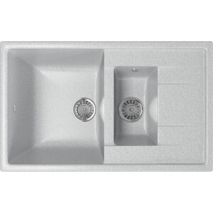 Кухонная мойка Mixline ML-GM22 49,5х77 серый 310 (4630030635444) кухонная мойка mixline ml gm26 47х58 серый 310 4630030636403