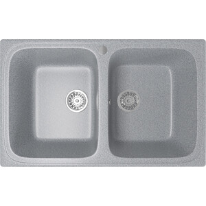 Кухонная мойка Mixline ML-GM23 49,5х77,5 графит 342 (4620031445814) кухонная мойка mixline ml gm10 44х44 бежевый 328 4630030632719