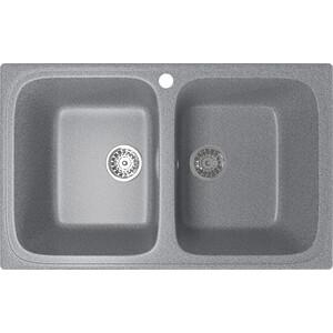 Кухонная мойка Mixline ML-GM23 49,5х77,5 темно-серый 309 (4630030635741) кухонная мойка mixline ml gm10 44х44 бежевый 328 4630030632719