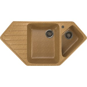 Кухонная мойка Mixline ML-GM25 50х97 песочный 302 (4630030636137) кухонная мойка mixline ml gm10 44х44 песочный 302 4630030632535