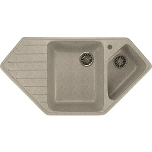 Кухонная мойка Mixline ML-GM25 50х97 серый 310 (4630030636168) кухонная мойка mixline ml gm25 50х97 бежевый 328 4630030636311