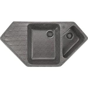 Кухонная мойка Mixline ML-GM25 50х97 темно-серый 309 (4630030636229) кухонная мойка mixline ml gm25 50х97 бежевый 328 4630030636311