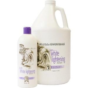 Шампунь 1 All Systems Pure White Lightening Shampoo осветляющий для кошек и собак 250мл щетка 1 all systems pin brush small овальная малая зубцы 35мм для средней и длинной шерсти животных