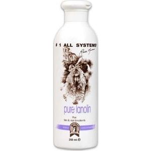 Кондиционер 1 All Systems Pure Lanolin Plus Skin & Hair Emollient с ланолином смягчающий для кожи и шерсти кошек и собак 250мл