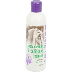 Шампунь 1 All Systems Super Cleaning & Conditioning Shampoo суперочищающий для кошек и собак 250мл шампуни для животных gamma шампунь для гладкошерстных кошек 250мл