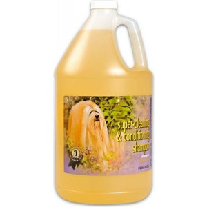 Шампунь 1 All Systems Super Cleaning & Conditioning Shampoo суперочищающий для кошек и собак 3,78л миска для кошек собак гамма n0