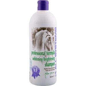 Шампунь 1 All Systems Professional Formula Whitening / Brightening Shampoo отбеливающий для яркости окраса шерсти кошек и собак 250мл гель отбеливающий 1 all systems super whitening gel 237 мл