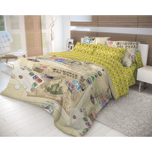Комплект постельного белья Волшебная ночь 1,5 сп, ранфорс, Travel с наволочками 70х70 (716282)