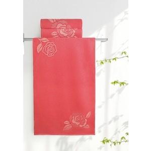 Полотенце Aquarelle Розы, розово-персиковый - коралл 70х140 (710447) полотенце для ванной lt green 70х140 см