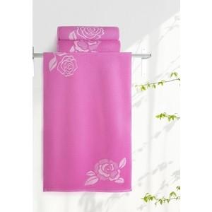 Полотенце Aquarelle Розы, нежно розовый - орхидея 70х140 (710448) полотенца valtery полотенце rosy цвет розовый 70х140 см