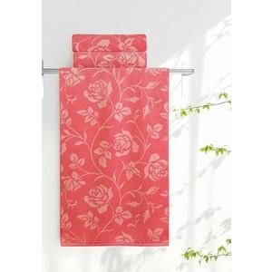 Полотенце Aquarelle Розы, розово-персиковый - коралл 70х140 (710655)