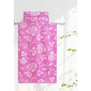 Полотенце Aquarelle Розы, нежно розовый - орхидея 70х140 (710656) полотенца valtery полотенце rosy цвет розовый 70х140 см