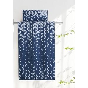 Полотенце Aquarelle Орион, белый и темно синий 70х140 (713035)