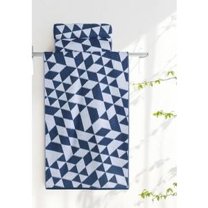 Полотенце Aquarelle Орион, белый и темно синий 70х140 (713037)