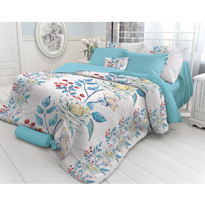 Комплект постельного белья Verossa Евро, Porcelain, наволочки 50x70 и 70x70 (717577) комплект постельного белья хлопковый край ирисы евро наволочки 50x70 70x70