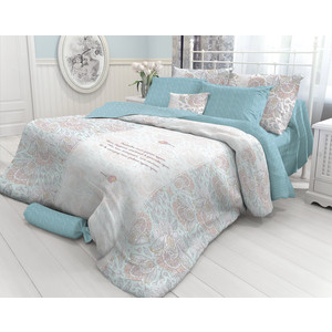 все цены на Комплект постельного белья Verossa Евро, перкаль, Strain, 2 наволочки 50x70, 2 наволочки 70x70 (718732) онлайн