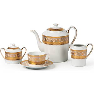 Сервиз чайный 15 предметов La Rose des Sables Mimosa Didon Or (539509 1645) mimosa handbuch