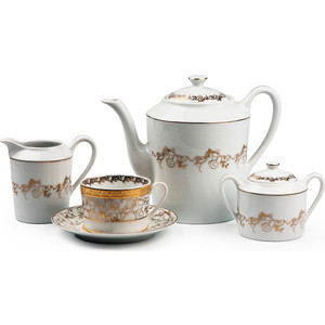 Сервиз чайный 15 предметов La Rose des Sables Mimosa Lierre Or (539509 947)