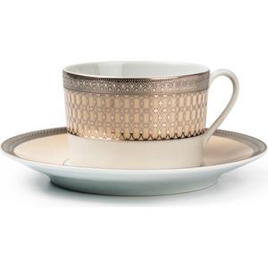 Набор чайных пар 0.22 л 12 предметов La Rose des Sables Tanite Victoire Pl (539506 1489) tanite victoir platineatine 1489 блюдо овальное 35 см цвет белый с платиной