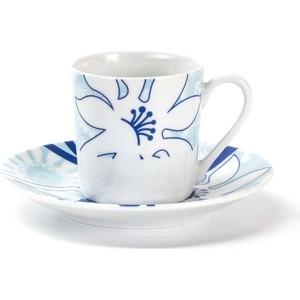Набор кофейных пар 0.1 л 12 предметов La Rose des Sables Bleu Sky (539012 2230) 6 кофейных пар 100мл париж royal porcelain 6 кофейных пар 100мл париж