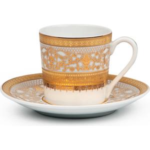Набор кофейных пар 0.1 л 12 предметов La Rose des Sables Mimosa Didon Or (539012 1645) набор тарелок глубоких 22 см la rose des sables mimosa prague gris 539124 1743