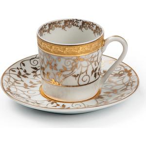 Набор кофейных пар 0.1 л 12 предметов La Rose des Sables Mimosa Lierre Or (539012 947) набор тарелок глубоких 22 см la rose des sables mimosa prague gris 539124 1743