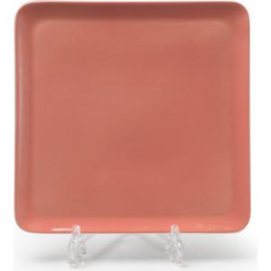 Тарелка квадратная 25 см La Rose des Sables Yaka Rose (880325 2228) тарелка 27 см la rose des sables yaka gris 880127 3064