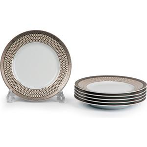 Набор тарелок 22 см La Rose des Sables Tanite Victoire Pl (539117 1489) tanite victoir platineatine 1489 блюдо овальное 35 см цвет белый с платиной