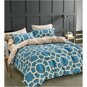Комплект постельного белья Do and Co Евро, сатин, Orline светло синий (9450светло синий) co e