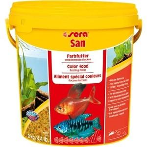 Фотография товара корм SERA SAN Color Food Floating Flakes плавающие хлопья усиление окраски для рыб 10л (2кг) (798633)