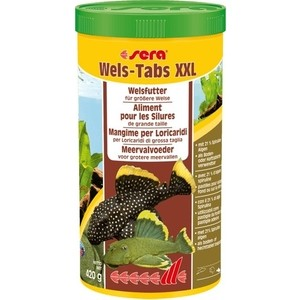 Корм SERA Wels Tabs XXL for CatFish тонущие таблетки для сомов и донных рыб 1л (420г)