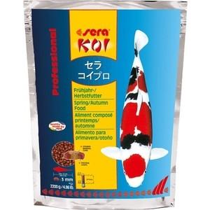 Корм SERA Professional KOI Spring / Autumn Food весенний и осенний чипсы для кои 2,2кг корм tetra tetramin xl flakes complete food for larger tropical fish крупные хлопья для больших тропических рыб 10л 769946