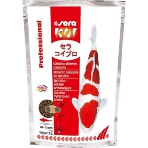 Корм SERA Professional KOI Spirulina Color Food чипсы для усиления окраса кои 1кг корм tetra tetramin xl flakes complete food for larger tropical fish крупные хлопья для больших тропических рыб 10л 769946