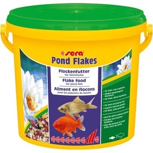 Корм SERA POND FLAKES Flake Food for Pond Fish хлопья для прудовых рыб 3,8л (600г) solar powered pond pump water fountain kit for garden pool