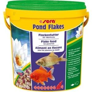 Корм SERA POND FLAKES Flake Food for Pond Fish хлопья для прудовых рыб 10л (1,7кг)