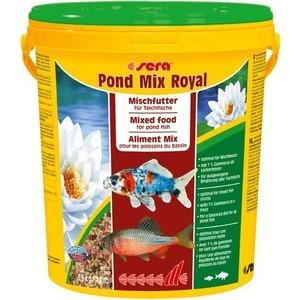 Корм SERA POND MIX ROYAL Mix Food for Pond Fish смесь для прудовых рыб 21л (3,5кг) корм tetra tetramin xl flakes complete food for larger tropical fish крупные хлопья для больших тропических рыб 10л 769946