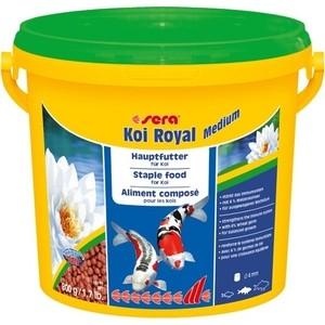 Корм SERA KOI ROYAL MEDIUM Staple Food for Medium Koi гранулы для кои 3,8л (800г) корм tetra tetramin xl flakes complete food for larger tropical fish крупные хлопья для больших тропических рыб 10л 769946