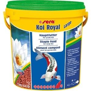 Корм SERA KOI ROYAL LARGE Staple Food for Large Koi гранулы для крупных кои 10л (2кг)